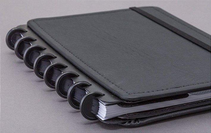Discos e Elástico G Preto - Caderno Inteligente
