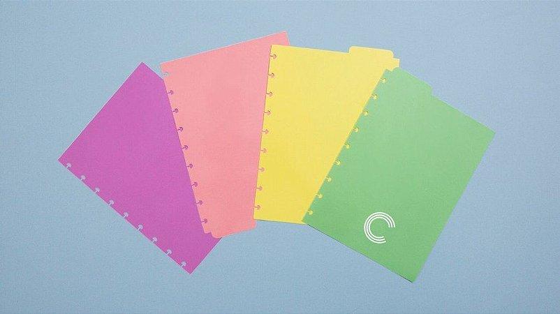 Divisórias Pastel Médio - Caderno Inteligente