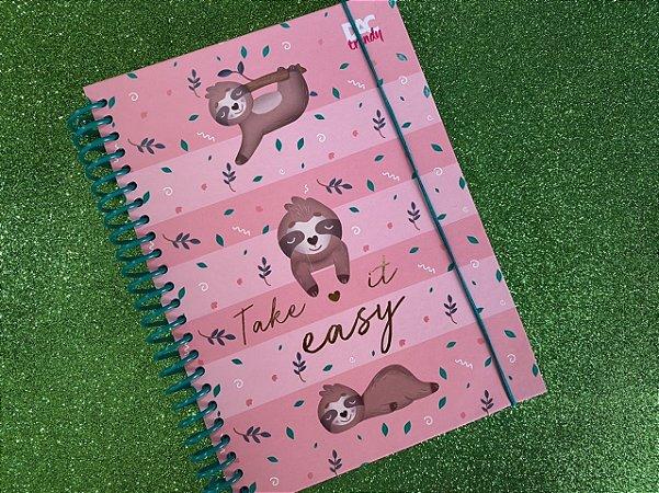 Caderno colegial de bicho preguiça - DAC