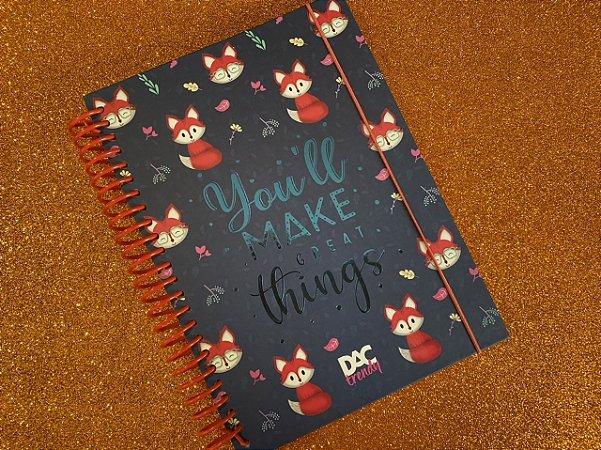 Caderno colegial de raposa - DAC