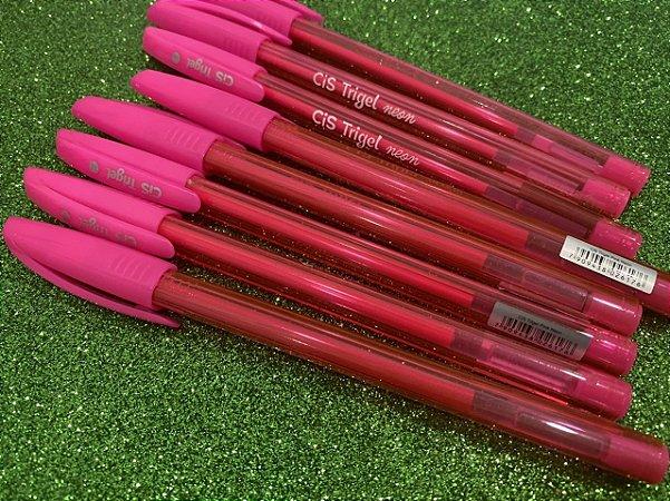 Caneta Trigel Rosa Neon 1.0 - Cis