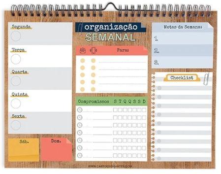 Wall Planner Organização Semanal - Cartões Gigantes