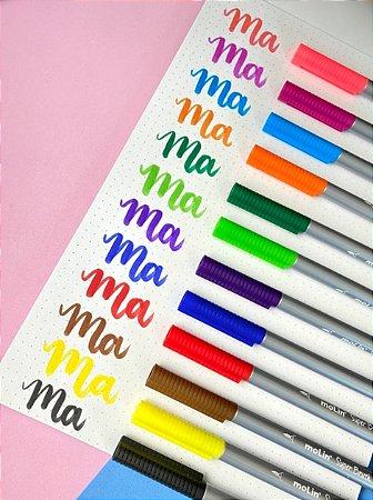 Caneta Super Brush - Estojo com 12 cores - Molin