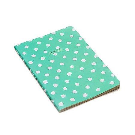 Caderneta Meu Pequeno Cicero Pastel 14x21 Verde Bolinhas - Pontada