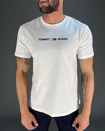 Camiseta Logo Emborrachada Masculina Tommy Jeans