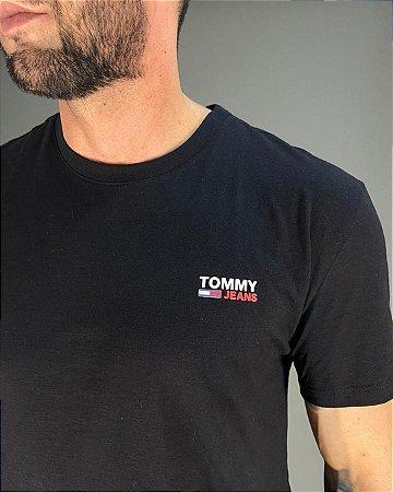 Camiseta Básica Preta Masculina Tommy Jeans