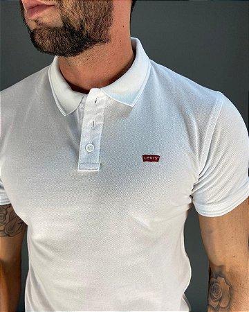 Camisa Polo Branca Básica Masculina Levi's