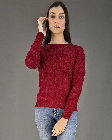Blusa Tricot com Detalhe em Lurex Feminina Coerenza