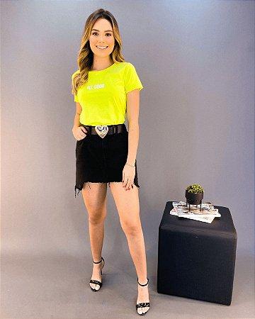 T-shirt Amarelo Neon Feminina