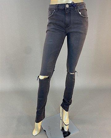 Calça Jeans Midi Skinny Fosca John John