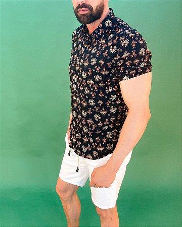 Camisa manga Curta Desenhos Incas Masculina