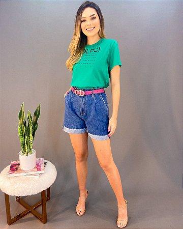 Bermuda Jeans Mom Feminina