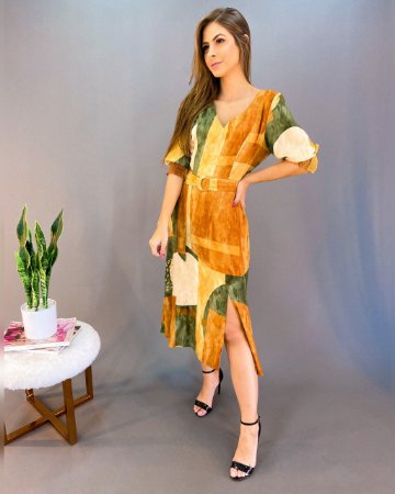 Vestido Midi Feminino