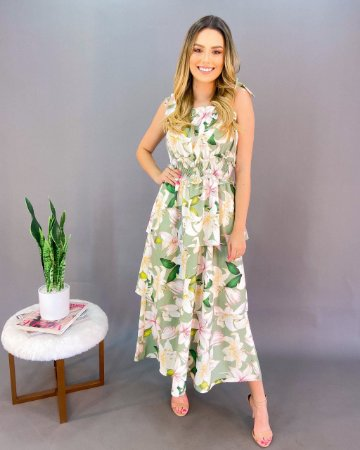 Vestido Estampado Feminino