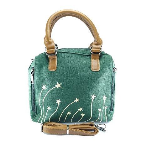Bolsa Feminina Tiracolo Estrelas na Cor Verde CQ5742