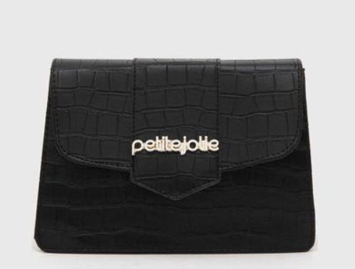 Bolsa Feminina Petite Jolie Koby Preta Croco PJ5063