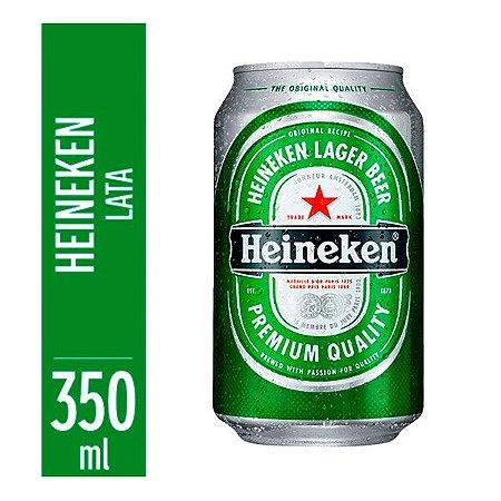 Cerveja Heineken lata 350ml-caixa com 12