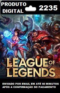 2235 RPs para League of Legends (LOL)