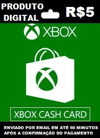 Xbox Cash Recarga de R$5