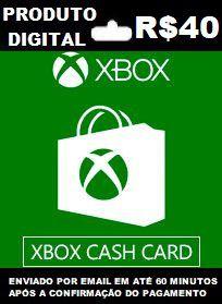 Xbox Cash Recarga de  R$40