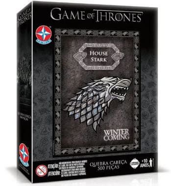 Jogo Quebra Cabeça Game of Thrones Winter Is Coming - Estrela