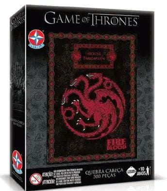 Jogo Quebra Cabeça Game of Thrones House Targaryen - Estrela
