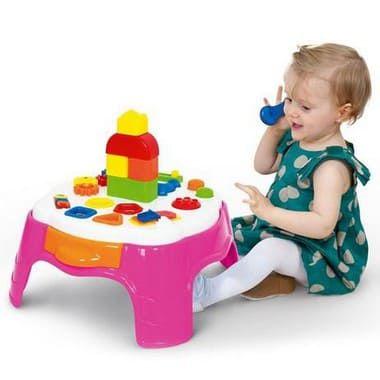 Play Time Mesa Atividade Rosa - Cotiplás