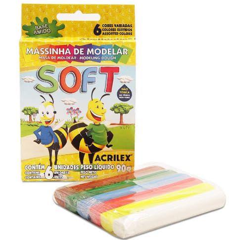 Massinha de Modelar 6 Cores Soft - Acrilex