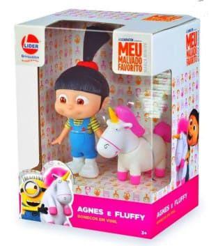Boneca Agnes e Fluffy Vinil - Líder Brinquedos
