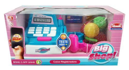 Caixa Registradora Big Shop c/ Aplicativo Som e Luz - Usual Brinquedos