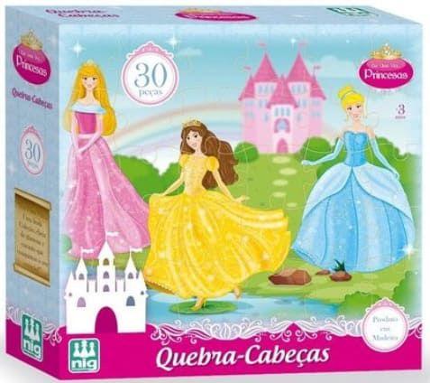 Quebra Cabeça Infantil Princesas 30 peças - Nig Brinquedos