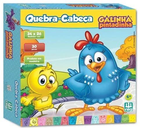 Quebra Cabeça Galinha Pintadinha 30 Peças - Nig