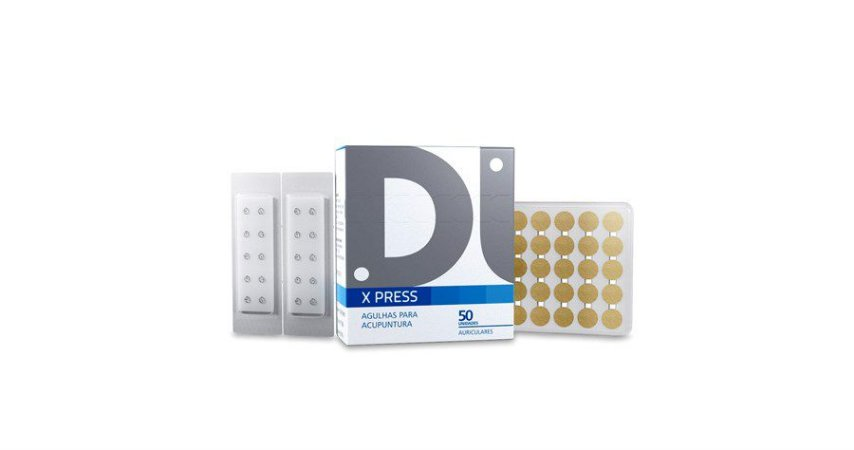 AGULHA  AURICULAR 0,18 x 1,5mm C/ MICROPORE CX COM 50 UNDS DUX