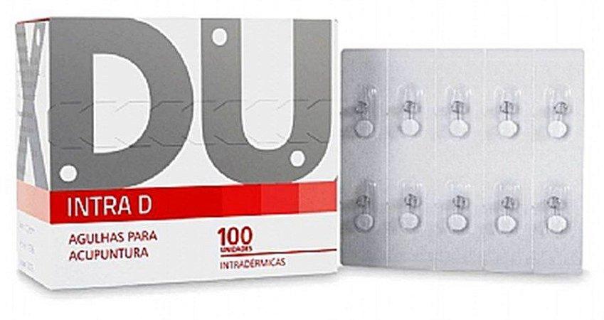 AGULHA DE ACUPUNTURA INTRADÉRMICA 0,12 x 5MM DUX CX COM 100 UNDS
