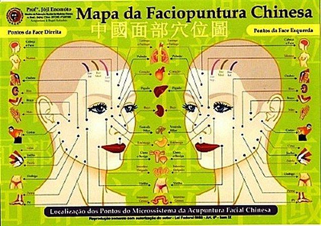 MAPA FACIOPUNTURA CHINESA