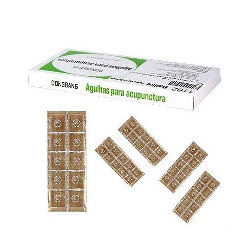 AGULHA AURICULAR 1,5 mm CAIXA COM 50 UNDS DONGBANG C/ MICROPORE