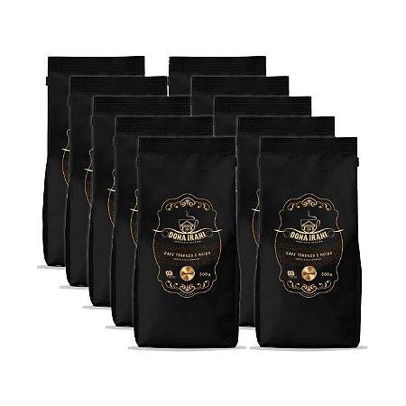 Promoção 5 kgs - Café Dona Irani Superior torrado e moído 500g