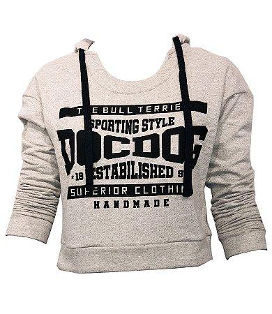 Moletom Cropped Doc Dog- Sporting Style - Cinza DD0542 15421053
