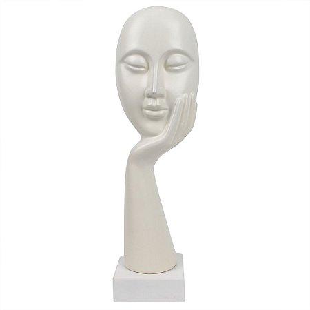 Escultura Rosto Branco