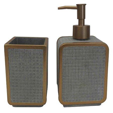 Conjunto para Banheiro Quadratto 2 Pçs