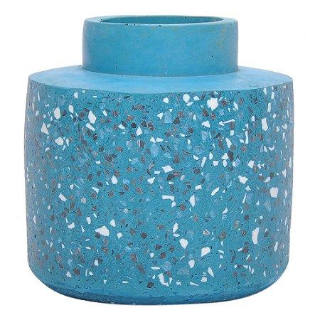 Vaso Cimento Azul