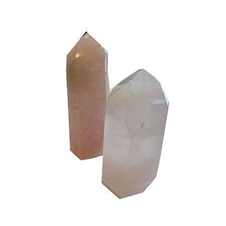 Ponta de Cristal Quartzo Rosa P