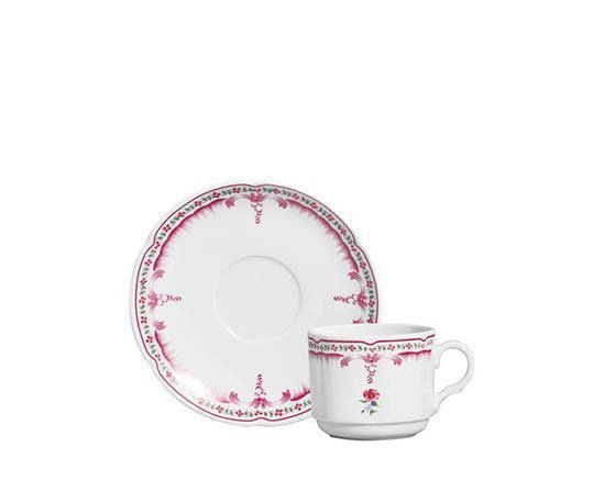 Conjunto Xícaras Chá Nina Rosa