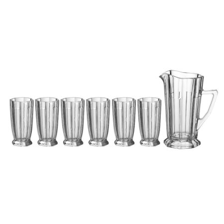 Jarra Crystal com 6 copos