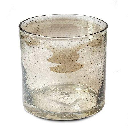 Vaso de Vidro Ambar