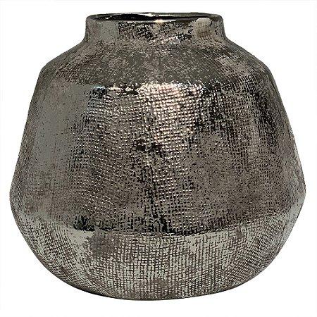 Vaso de Cerâmica Prata I