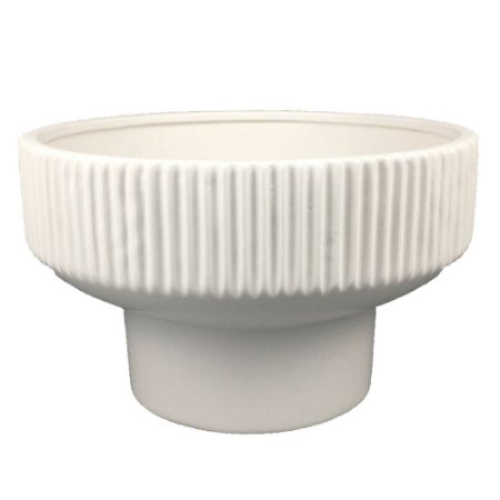 Vaso de Cerâmica Branco VI