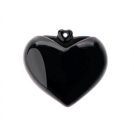 Coração de Parede Preto