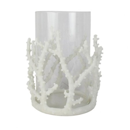 Castiçal Coral Branco