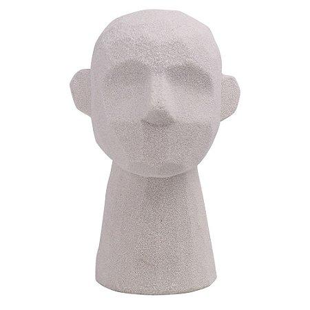 Escultura Cabeça Branco